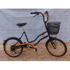 จักรยานแม่บ้าน ญี่ปุ่น สวย คลาสสิค แฮนด์ยกสูง วงล้อ20 เกียร์ ชิมาโน 6 สปีด ปั่นลื่น สวย พร้อมใช้ ราคา 4500 เปิดขายทุกวัน 11.00-20.00 น.ที่ห้