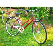 จักรยานแม่บ้านญี่ปุ่นมีเกียร์ Affiche ระบบไฟหน้าออโต้ - A049