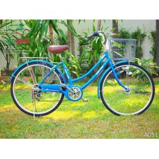 จักรยานแม่บ้านญี่ปุ่นมีเกียร์ ฺBobby Town ระบบไฟหน้าออโต้ - A051